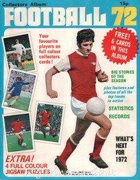 Football 72 - Inghilterra (album completo per rappresentante fogli singoli)